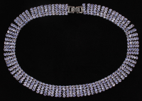 Silver Ladies 72 CT Tanzanite Necklace at PristineAuction.com