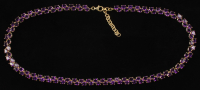 14Kt Yellow Gold Plated 45.65 CT Amethyst Ladies Necklace (UGL Appraisal) at PristineAuction.com