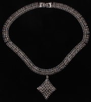 Silver Ladies 84.92 CT Sapphire Necklace (AIG Appraisal) at PristineAuction.com
