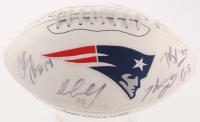 LE New England Patriots Logo Football Signed by (11) with Tom Brady, Tully Banta-Cain, Jerod Mayo, Zoltan Mesko, Gary Guyton (PSA LOA) at PristineAuction.com