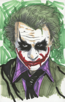 "Tom Hodges - Joker - DC Comics Signed ORIGINAL 5.5"" x 8.5"" Color Drawing on Paper (1/1) at PristineAuction.com"