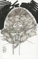 "Tom Hodges - Juggernaut - Marvel Comics - Signed ORIGINAL 5.5"" x 8.5"" Drawing on Paper (1/1) at PristineAuction.com"