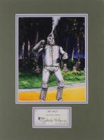 "Jack Haley Signed ""The Wizard Of Oz"" 12x16 Custom Matted Check Cut Display With Photo (Beckett COA) at PristineAuction.com"