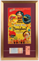 "Walt Disney's ""Disneyland"" 17x27 Custom Framed Print Display with Ticket Booklet & Parking Pass at PristineAuction.com"