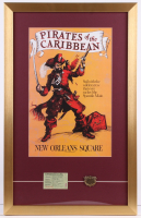 "Walt Disney's ""Pirates of the Caribbean"" 17x27 Custom Framed Print Display with Ticket & Coin at PristineAuction.com"