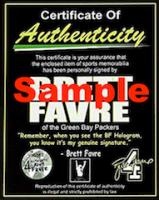 Brett Favre Signed Jersey (Tennzone Sports Hologram & Favre COA) at PristineAuction.com