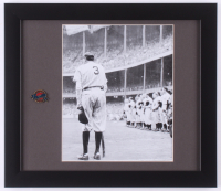 Babe Ruth New York Yankees 13x15 Custom Framed Photo Display with Pin at PristineAuction.com