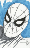 "Tom Hodges - Spider-Man - Marvel Comics - Signed ORIGINAL 5.5"" x 8.5"" Drawing on Paper (1/1) at PristineAuction.com"