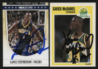 Lot of (2) Signed Basketball Cards with Xavier McDaniel Signed 1989-90 Fleer #148 & Lance Stephenson Signed 2011-12 Hoops #85 (JSA COA) at PristineAuction.com