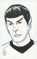 "Tom Hodges - Spock - ""Star Trek"" Signed ORIGINAL 5.5"" x 8.5"" Color Drawing on Paper (1/1) at PristineAuction.com"