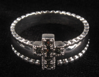 Sterling Silver Marcasite Cross Ring at PristineAuction.com