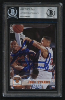 John Starks Signed 1993-94 Hoops #151 (BGS Encapsulated) at PristineAuction.com