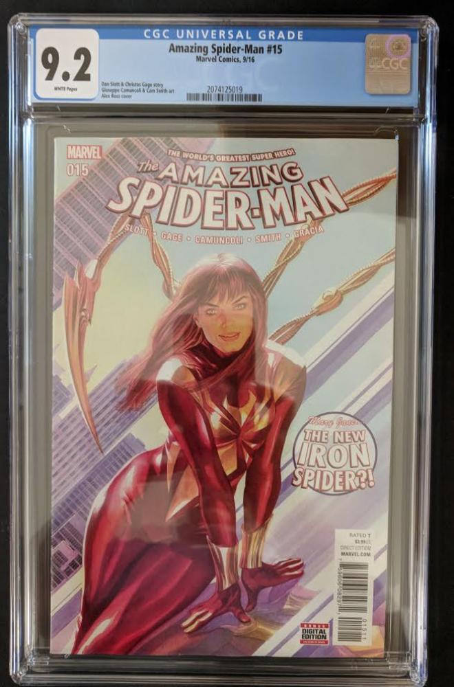 """2016 """"Amazing Spider-Man"""" #15 Marvel Comic Book (CGC 9.2) at PristineAuction.com"""
