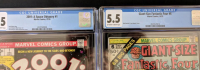 """Lot of (2) CGC Graded Marvel Comic Books with 1976 """"2001: A SPACE ODYSSEY"""" #1 (CGC 6.5) & 1975 """"Fantastic Four"""" Giant-Size #6 (CGC 5.5) at PristineAuction.com"""