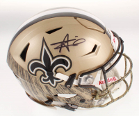 Alvin Kamara Signed New Orleans Saints Full-Size Authentic On-Field Hydro-Dipped SpeedFlex Helmet (JSA COA) at PristineAuction.com