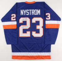 """Bob Nystrom Signed Jersey Inscribed """"4x SC Champs"""" (JSA COA) at PristineAuction.com"""
