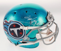 Eddie George Signed Tennessee Titans Full-Size Authentic On-Field Chrome Helmet (Beckett COA) at PristineAuction.com