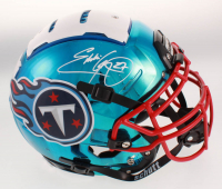 Eddie George Signed Tennessee Titans Full-Size Authentic On-Field F7 Chrome Helmet (Beckett COA) at PristineAuction.com