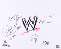 "WWE 16x20 Photo Signed by (6) with Ivan Koloff, Roddy Piper, Jimmy Hart, Fifi the Maid, George ""The Animal"" Steel, & Bruno Sammartino (MAB Hologram) at PristineAuction.com"