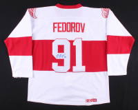 Sergei Fedorov Signed Detroit Red Wings Jersey (JSA COA) at PristineAuction.com