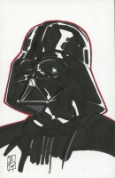"Tom Hodges - Darth Vader - ""Star Wars"" Signed ORIGINAL 5.5"" x 8.5"" Drawing on Paper (1/1) at PristineAuction.com"