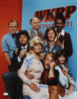 """WKRP in Cincinnati"" 16x20 Photo Cast-Signed by (4) with Loni Anderson, Tim Reid, Howard Hesseman & Jan Smithers with Character Inscriptions (JSA COA) at PristineAuction.com"