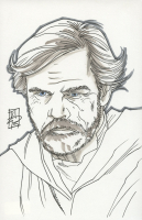 "Tom Hodges - Luke Skywalker - ""Star Wars"" Signed ORIGINAL 5.5"" x 8.5"" Color Drawing on Paper (1/1) at PristineAuction.com"