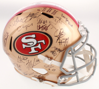 2019 San Fransisco 49ers Full-Size Helmet Team-Signed by (38) with Marquise Goodwin, Deforest Buckner, Kyle Shanahan, Kyle Juszczyk, Fred Warner, Joe Staley (JSA ALOA) at PristineAuction.com