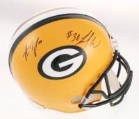 Jamaal Williams & Aaron Jones Signed Green Bay Packers Full-Size Helmet (JSA COA) at PristineAuction.com