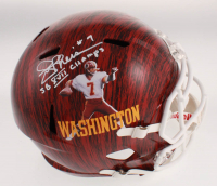 """Joe Theismann Signed Washington Redskins Full-Size Hydro-Dipped Speed Helmet Inscribed """"SB XVII Champs"""" (Beckett COA) at PristineAuction.com"""