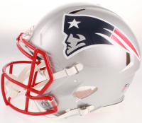 "Julian Edelman Signed New England Patriots Full-Size Authentic On-Field Speed Helmet Inscribed ""SB LIII MVP"" (Beckett COA) at PristineAuction.com"