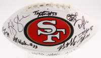 2019 San Francisco 49ers Logo Football Signed by (21) with Kaden Smith, Dante pettis, Tarvaris Moore, Nick Mullens, Deforest Buckner (JSA ALOA) at PristineAuction.com
