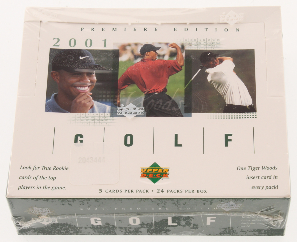2001 Upper Deck Golf Unopened Box of (24) Packs at PristineAuction.com