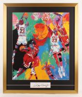 "LeRoy Neiman Signed ""Michael Jordan"" 25x30 Custom Framed Cut Display (PSA COA) at PristineAuction.com"