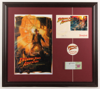 "Walt Disney's ""Indiana Jones Temple of the Forbidden Eye"" 23.5x26.5 Custom Framed Print Display with Ticket & Sticker at PristineAuction.com"