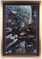 "1977 Original Promotional ""Star Wars: Episode IV -  A New Hope"" 26.5x37.5 Custom Framed Movie Poster at PristineAuction.com"