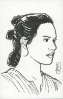 "Tom Hodges - Rey - ""Star Wars"" Signed ORIGINAL 5.5"" x 8.5"" Drawing on Paper (1/1) at PristineAuction.com"