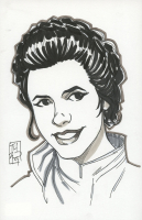 "Tom Hodges - Princess Leia - ""Star Wars"" - Signed ORIGINAL 5.5"" x 8.5"" Drawing on Paper (1/1) at PristineAuction.com"
