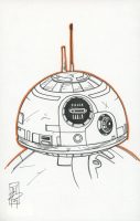 "Tom Hodges - BB-8 - ""Star Wars"" - Signed ORIGINAL 5.5"" x 8.5"" Drawing on Paper (1/1) at PristineAuction.com"
