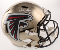 Julio Jones Signed Falcons Full-Size Chrome Speed Helmet (JSA COA) at PristineAuction.com