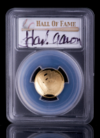 Hank Aaron Signed Gold 2014-W $5 Five-Dollar Baseball Hall of Fame Gold Coin - First Strike (PCGS PR70 DCAM) at PristineAuction.com