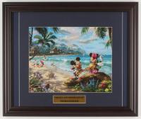 "Thomas Kinkade Walt Disney's ""Mickey & Minnie Mouse"" 16x19 Custom Framed Print Display at PristineAuction.com"