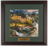 "Thomas Kinkade Walt Disney's ""Bambi"" 18x18.5 Custom Framed Print Display at PristineAuction.com"