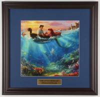 "Thomas Kinkade Walt Disney's ""The Little Mermaid"" 18x18.5 Custom Framed Print Display at PristineAuction.com"