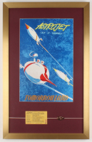 "Walt Disney's ""Disneyland: Astrojets Rockets"" 17x27 Custom Framed Print Display with Ticket & Coin at PristineAuction.com"