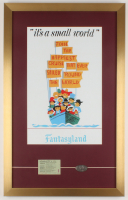 "Walt Disney's ""Disneyland: It's A Small World"" 17x27 Custom Framed Print Display with Ticket & Coin at PristineAuction.com"