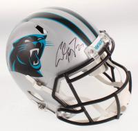 Christian McCaffrey Signed Carolina Panthers Full-Size Speed Helmet (Beckett COA) at PristineAuction.com
