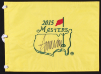 Donald Trump Signed 2015 Masters Tournament Pin Flag (PSA LOA) at PristineAuction.com