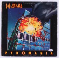 "Def Leppard ""Pyromania"" Vinyl Record Album Band-Signed by (5) with Phil Collen, Rick Allen, Rick Savage, Joe Elliott, & Steve Clark (PSA LOA) at PristineAuction.com"
