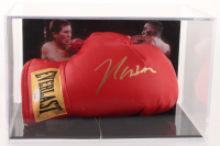 Julio Cesar Chavez Signed Vintage Boxing Glove with Display Case (JSA COA) at PristineAuction.com